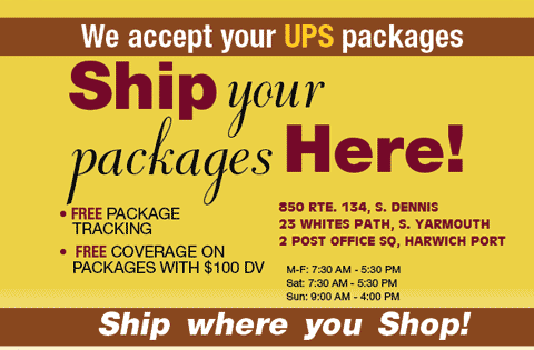 We accept UPS packages!
